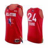 Camiseta All Star 2020 Atlanta Hawks Trae Young Autentico #24 Rojo