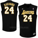 Camiseta Apodo Los Angeles Lakers Black Mamba #24 Negro