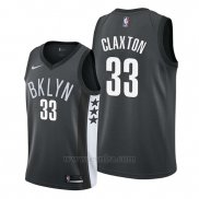 Camiseta Brooklyn Nets Nicolas Claxton #33 Statement 2019-20 Negro