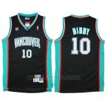 Camiseta Historic Retro Vancouver Grizzlies Mike Bibby #10 Negro