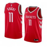 Camiseta Houston Rockets Brandon Knight #11 Icon 2018 Rojo