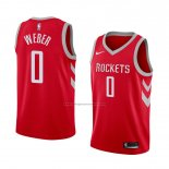 Camiseta Houston Rockets Briante Weber #0 Icon 2018 Rojo