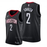Camiseta Houston Rockets Chris Chiozza #2 Statement Negro