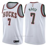 Camiseta Milwaukee Bucks Thon Maker #7 Return To The Mecca Classic 2017-18 Blanco