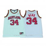 Camiseta NCAA Maryland Len Bias #34 Blanco