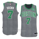 Camiseta Navidad 2018 Boston Celtics Jaylen Brown #7 Verde