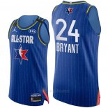 Camiseta All Star 2020 Los Angeles Lakers Kobe Bryant Autentico #24 Azul