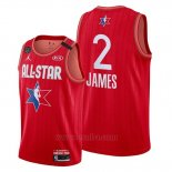 Camiseta All Star 2020 Los Angeles Lakers Lebron James #2 Rojo