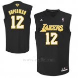 Camiseta Apodo Los Angeles Lakers Superman #12 Negro