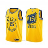 Camiseta Golden State Warriors Mychal Mulder #15 Classic Amarillo