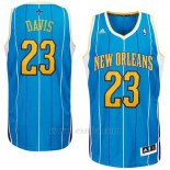 Camiseta Historic New Orleans Hornets Anthony Davis #23 Azul
