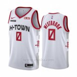 Camiseta Houston Rockets Russell Westbrook #0 Ciudad 2019-20 Blanco