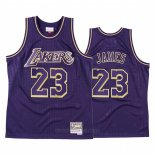 Camiseta Los Angeles Lakers LeBron James #23 2020 Chinese New Year Throwback Violeta