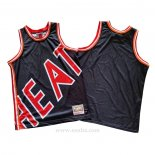 Camiseta Miami Heat Mitchell & Ness Big Face Azul