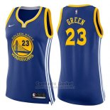 Camiseta Mujer Golden State Warriors Draymond Green Icon #23 2017-18 Azul