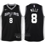 Camiseta Nino San Antonio Spurs Patty Mills Icon #8 2017-18 Negro