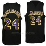 Camiseta Apodo Los Angeles Lakers Black Mamba #24 Violeta Negro