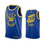Camiseta Golden State Warriors Stephen Curry #30 Hardwood Classics 2020-21 Azul