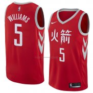 Camiseta Houston Rockets Troy Williams #5 Ciudad 2018 Rojo
