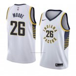 Camiseta Indiana Pacers Ben Moore #26 Association 2018 Blanco