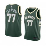 Camiseta Milwaukee Bucks Ersan Llyasova #77 Icon 2018 Verde