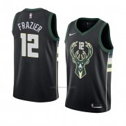 Camiseta Milwaukee Bucks Tim Frazier #12 Statement 2018 Negro