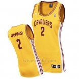 Camiseta Mujer Cleveland Cavaliers Kyrie Irving #2 Amarillo