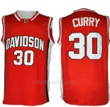 Camiseta NCAA Davidson Wildcat Stephen Curry #30 Rojo
