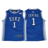Camiseta NCAA Duke Blue Devils Kyrie Irving #1 Retro Azul