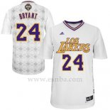 Camiseta Noches Enebea Los Angeles Lakers Kobe Bryant #24 Blanco