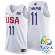 Camiseta USA 2016 Klay Thompson #11 Blanco