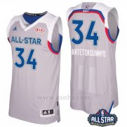 Camiseta All Star 2017 Milwaukee Bucks Giannis Antetokounmpo #34 Gris