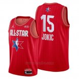 Camiseta All Star 2020 Denver Nuggets Nikola Jokic #15 Rojo