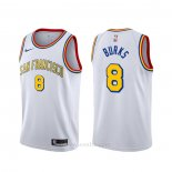 Camiseta Golden State Warriors Alec Burks #20 Classic Edition 2019-20 Blanco