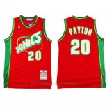 Camiseta Historic Retro Seattle SuperSonics Gary Payton #20 Rojo
