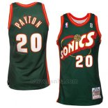 Camiseta Historic Retro Seattle SuperSonics Gary Payton #20 Verde