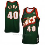 Camiseta Historic Retro Seattle SuperSonics Shawn Kemp #40 Verde