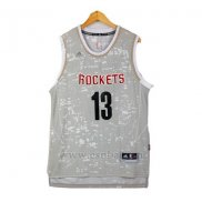 Camiseta Luces De La Ciudad Houston Rockets James Harden #13 Gris