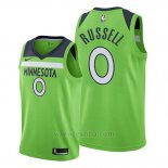 Camiseta Minnesota Timberwolves D'angelo Russell #0 Statement 2019-20 Verde
