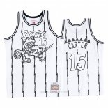 Camiseta Toronto Raptors Vince Carter #15 Concord Collection Hardwood Classics Blanco Negro