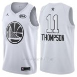Camiseta All Star 2018 Golden State Warriors Klay Thompson #11 Blanco