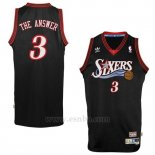 Camiseta Apodo Philadelphia 76ers The Answer #3 Negro