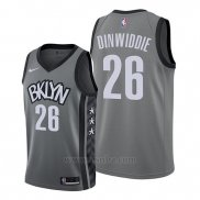 Camiseta Brooklyn Nets Spencer Dinwiddie #26 Statement Edition Gris