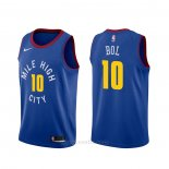 Camiseta Denver Nuggets Bol Bol #10 Statement Azul