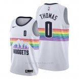 Camiseta Denver Nuggets Isaiah Thomas #0 Ciudad Edition Blanco