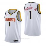 Camiseta Denver Nuggets Michael Porter Jr. #1 Association Blanco
