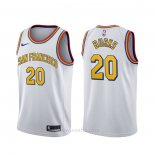 Camiseta Golden State Warriors Alec Burks #20 Classic Blanco