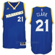 Camiseta Golden State Warriors Ian Clark #21 Azul
