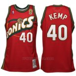 Camiseta Historic Retro Seattle SuperSonics Shawn Kemp #40 Rojo