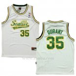 Camiseta Historic Seattle SuperSonics Kevin Durant #35 Blanco